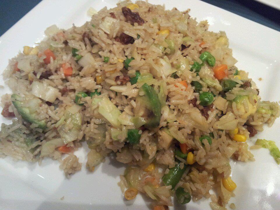 Fried rice with avocado and vegetables.  I order this every time I go there.  YUMMY!